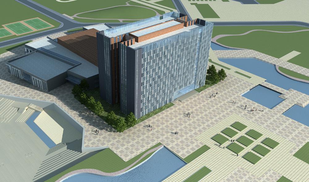 郑州师范学院科研信息楼、大礼堂幕墙设计案例