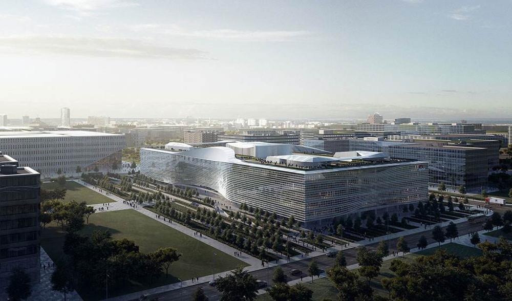 新浪总部大楼幕墙工程设计案例