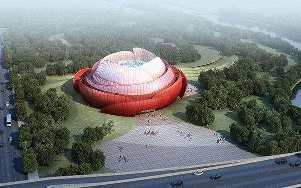 重庆万达城展示中心异形幕墙设计案例