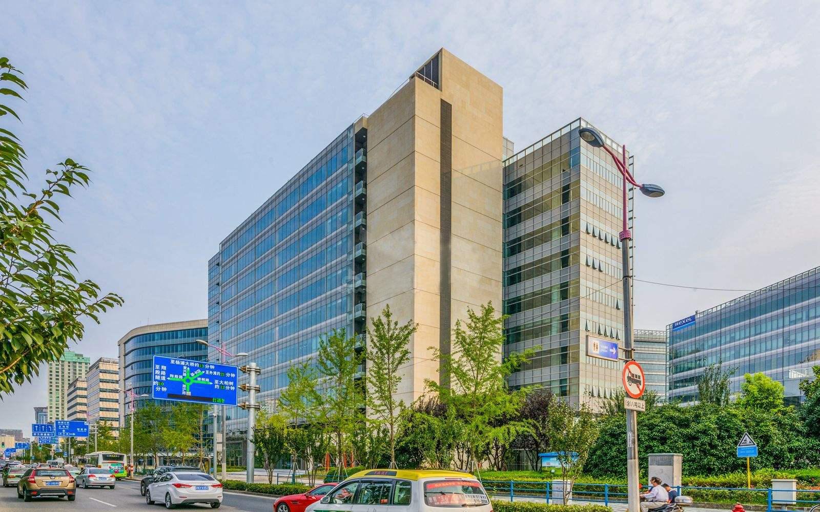 上海创智天地广场玻璃幕墙、石材幕墙设计效果图案例