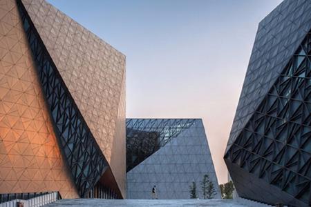 璧山文化艺术中心玻璃幕墙设计案例