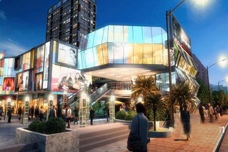 太原北美新天地玻璃幕墙设计效果图案例