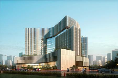 新青海大厦异形幕墙工程设计效果图案例