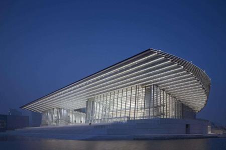 天津大剧院石材幕墙、玻璃幕墙、异形幕墙设计效果图案例