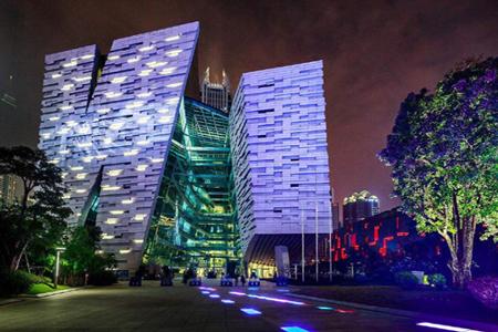 广州图书馆石材幕墙、异形幕墙设计效果图案例