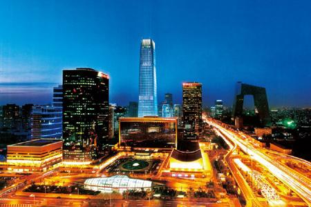 中国国际贸易中心玻璃幕墙设计效果图案例