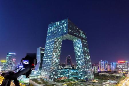 中央电视台总部大楼异形玻璃幕墙设计效果图案例