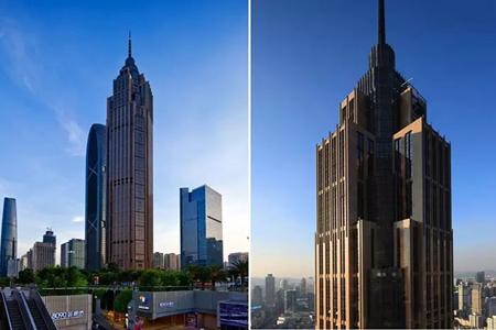 广晟国际大厦干挂式石材幕墙设计效果图
