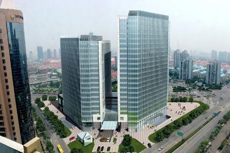 上海东方金融广场玻璃幕墙设计效果图