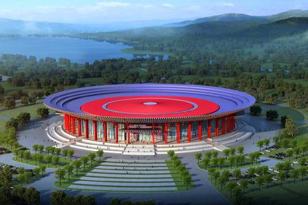 雁栖湖国际会展中心金属幕墙,石材幕墙设计效果图案例