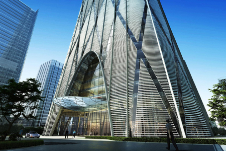 深圳塔楼金属幕墙设计效果图