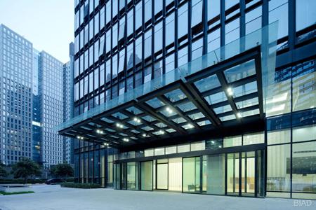 文化创意大厦明框玻璃幕墙设计效果图