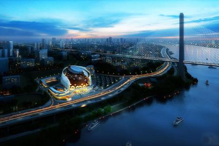 重庆国际马戏城异形金属幕墙,异形石材幕墙设计案例
