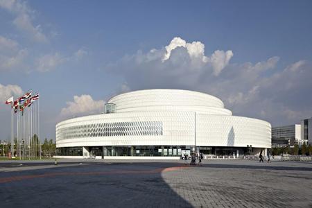 北京国际园林博览会主展馆金属幕墙,玻璃幕墙设计案例