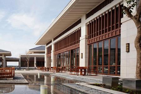 美吉国际酒店干挂式石材幕墙设计效果图