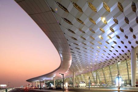 深圳宝安国际机场异形金属幕墙,玻璃幕墙设计案例