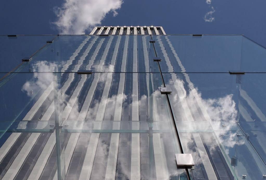办公楼玻璃幕墙及石材幕墙施工图