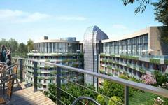 上海佘山世茂洲际酒店组合面板幕墙设计效果图