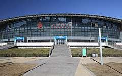 北京工业大学体育馆金属幕墙、玻璃幕墙施工案例