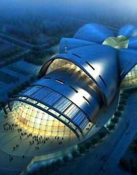 特立尼达和多巴哥西班牙港国际艺术中心双曲面异型铝板幕墙工程案例