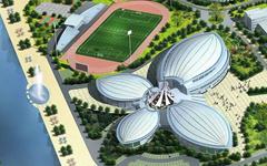 上海海事大学临港新校区体育中心钢结构幕墙施工案例