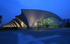 上海东方体育中心铝板幕墙设计案例