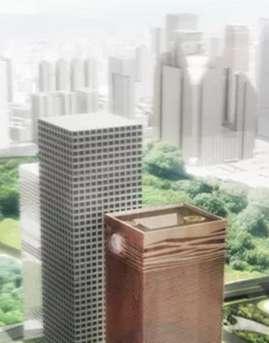 深圳建行大厦幕墙施工设计效果图