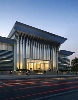 华西文体中心铝板幕墙设计施工效果图