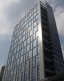 澄江商会大楼半隐框玻璃幕墙设计施工案例
