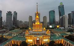 上海展览中心石材幕墙设计施工案例