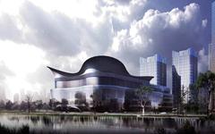 上海跨国采购会展中心铝板幕墙施工案例