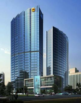 青岛香格里拉酒店全单元式玻璃幕墙设计效果图