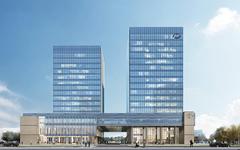 上海盛迪医药研发总部大厦玻璃幕墙,石材幕墙施工案例