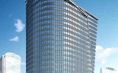 中环现代大厦玻璃幕墙施工效果图