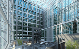 新型玻璃幕墙景观兴起 透明LED显示屏市场价值较大