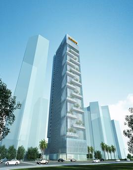 彩讯科技大厦玻璃幕墙设计效果图