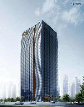 芒果网大厦单元式玻璃幕墙设计效果图