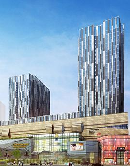 西太康路360广场石材幕墙设计效果图