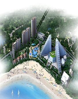 福建石狮美达国际大酒店玻璃幕墙设计效果图