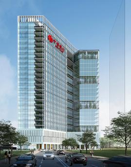 深圳中信银行大厦玻璃幕墙设计效果图