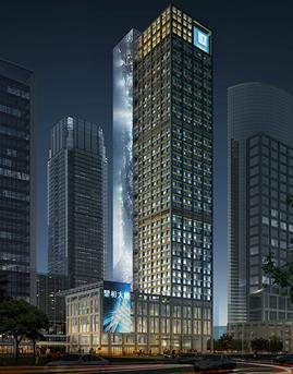 深圳鼎和大厦石材幕墙设计效果图