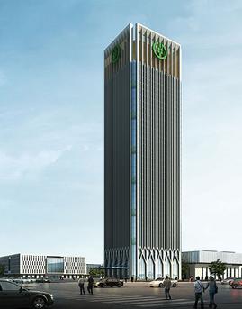 中国农业银行客服中心(合肥)玻璃幕墙设计效果图