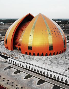 新疆大剧院蜂窝板幕墙系统设计施工效果图