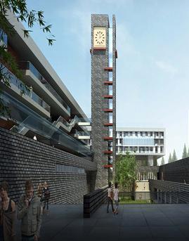 徐州市第一中学新城区校区石材幕墙设计效果图