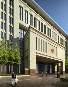 九江市市民服务中心石材幕墙设计效果图