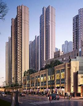 天悦中央广场石材幕墙设计施工效果图