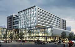贵阳综合保税区综合服务大楼玻璃幕墙施工案例