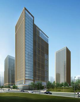汉峪金融商务中心玻璃幕墙设计效果图