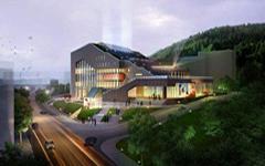 珠海文化馆框架式石材幕墙设计施工案例
