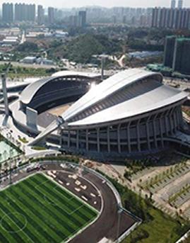 广东江门体育中心铝板幕墙设计效果图